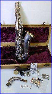 H. N. White Alto Sax- Silver-vintage! (inv#sa617r)