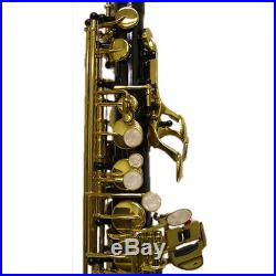 HOLIDAY SALE Black/Gold Alto Saxophone w Wonderful Versatile Case GREAT GIFT