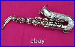 Keilwerth 1961 Tone King Alto Sax, SILVER, with high F#, #42k