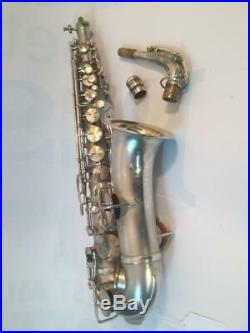 King H N White Co. Silver Plated Alto Sax Made c. 1920-Overhauled-Collectible