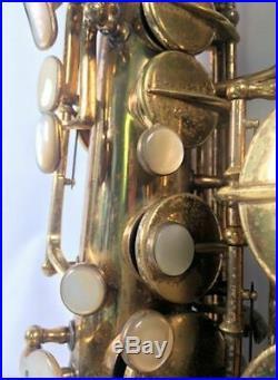 Kohlert Pennsylvania Special Alto Saxophone Mother of Pearl Brass 1940 Czech Sax