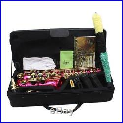 LADE Brass Eb E-Flat Alto Saxophone Sax with Accessories Kit Case Rose Durable