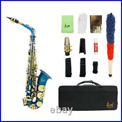 LADE Eb E-Flat Alto Saxophone Sax Wind Instrument with Case Cleaning Cloth