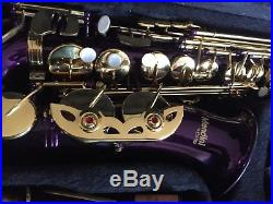 Mendini Purple Lacquer Brass Saxophone Sax