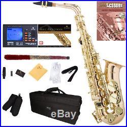 Mendini Rose Gold Brass Alto Saxophone Sax +Tuner+Book+Case+CareKit MAS-30