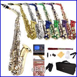 Mendini by Cecilio Alto Saxophone Sax +Chromatic Tuner, First Lesson Book