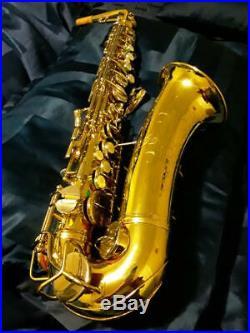 Mint C. G. Conn naked lady 6M alto sax underslung octave key double channel neck
