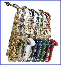NEW ALL COLOR ALTO SAXOPHONE SAX With5 YEARS WARRANTY