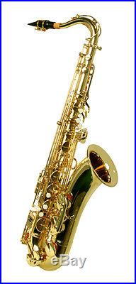 NEW BRASS TENOR SAXOPHONE SAX Withcase Approved+ Warranty