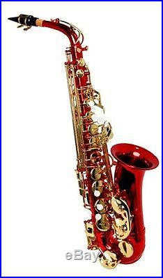 NEW RED ALTO SAXOPHONE SAX With5 YEARS WARRANTY