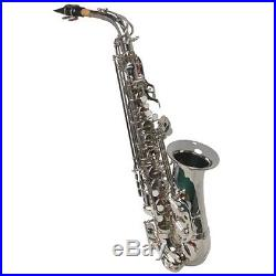 NEW SILVER ALTO SAXOPHONE SAX With5 YEARS WARRANTY