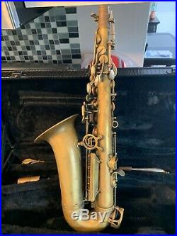 NICE CANNONBALL BIG BELL STONE SERIES BRUTE FINISH ALTO SAXOPHONE SAX With2 NECKS