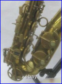 NIKKAN AS N020 Alto Sax Gold from Japan Woodwind instrument Very Rare Vintage