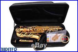 New JUPITER JAS-769 Alto Eb Tune Saxophone Gold Lacquer Sax With Case