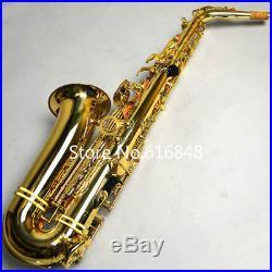 New JUPITER JAS-769 Alto Eb Tune Saxophone Gold Lacquer Sax With Case Fast Shipp