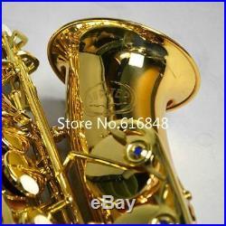 New JUPITER JAS-769 Alto Eb Tune Saxophone Gold Lacquer Sax With Case Free Ship