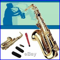 New Professional Eb Alto Sax Saxophone Paint Gold with Case and Accessories SUM2