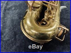 Original Buescher Aristocrat Alto Sax Model 140'Big B Style' Serial # 333226