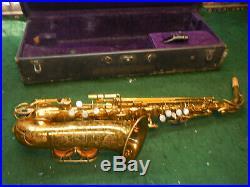 Original Lacquer The Martin Alto Saxophone SAX w'Case bundy mouthpiece france