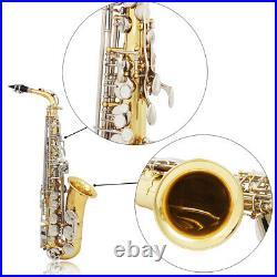 Professional Brass Alto Saxophone Eb E-Flat Sax with Padded Case Accessory S6J5