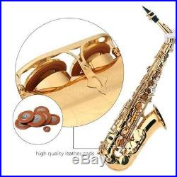 Professional Eb Alto Sax Saxophone Paint Gold with Case and Accessories UK TOP
