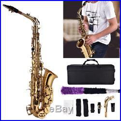 Professional Gold Alto Saxophone Sax For Adult and Children Gift