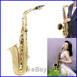 Professional Gold Eb Alto Sax Saxophone Accessories Cork Grease Gloves Strap