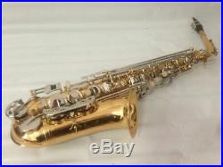 Professional Gold with Silver Keys Alto Saxophone Sax Brand New