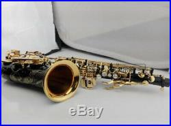 Professional SAS-R54 Alto Saxophone Eb Tune Gold Black Gold Black Sax With Case