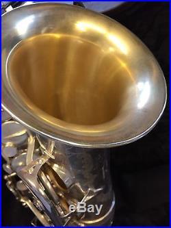 Rampone e Cazzani R1 Jazz Sax Alto Argentato Campana Dorata Perfetto