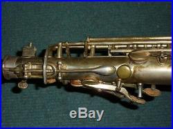 Rare Adolphe Sax 84 rue MYRHA PARIS 147XX LP French alto saxophone