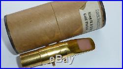 Rare Gold Plated Dave Guardala KING / R&B Alto sax mouthpiece