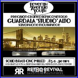 Retro-revival Seventh Ave South Replica Guardala Studio Alto Sax Piece. 85 Demo