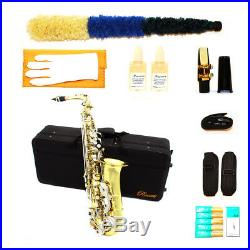 Rossetti 1158 Professional Eb Alto Saxophone Nickel Lacquer + Case, Mouthpiece