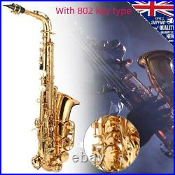SALE E-flat Alto Sax Saxophone Gold Musical Set with 802 Key Type for Adult Kid