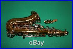 SAXOPHONE SOPRANO COURBE' Sib/Fa# NEW ORLEANS OR CLES NICKELE' BEC ACCESSOIRES