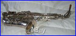 SML Gold Medal alto sax, silver-plated good playing order, structurally sound