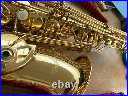 Sakkusu Alto Saxophone (Sax. Co. Uk) with accessories, books and DVDs