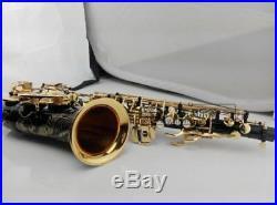 Saxophone Black Alto Brass Engraving Copy SELMER SAS-R54 Mode Black Gold Sax