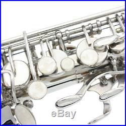 Saxophone Sax Eb Be Alto E Flat with Gloves Cleaning Cloth Brush Straps P9X1