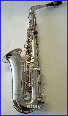 Saxophone in Eb Sax Alto Chase Outfit In Soft Carry Case In Silver Nickel