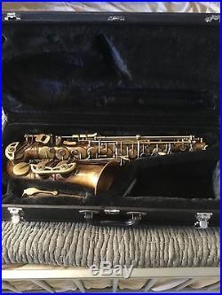 Schagerl alto sax. Superior Model. A1-VB. VINTAGE BRONZE. MINT CONDITION