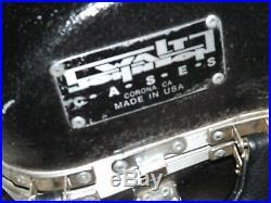 Shaped, Contoured Walt Johnson Alto Sax/Saxophone Case, Excellent Condition
