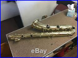 Superb Conn 12m Vintage Transitional Baritone Sax, Rolled T-holes, All New Pads