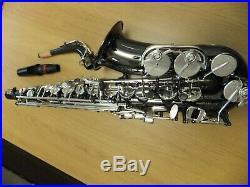 Trevor James Classic II Alto Sax Nickel Black. Silver Keys. Case, stand & more