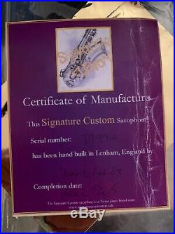 Trevor James Signature Custom Raw Alto Sax