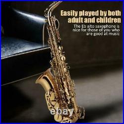 UK Alto Eb Sax Saxophone Brass Golden Set with Storage Case Mouthpiece Grease