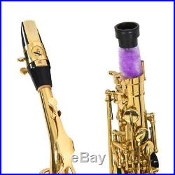 UK STOCK GOLD LACQUER BRASS Eb ALTO SAXOPHONE SAX With TUNER, CASE, CAREKIT, 11 REEDS