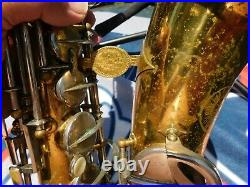 Used, Rare Evette Schaeffer Alto Saxophone Needs Restoration