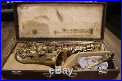 Used Selmer Paris SA80 Series II Alto Sax Jubilee Gold Lacquer- With £175 co